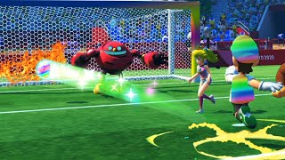 Mario and Sonic at the Tokyo 2020 Olympic Games Football Extra Time Win Team Knuckles vs Amy