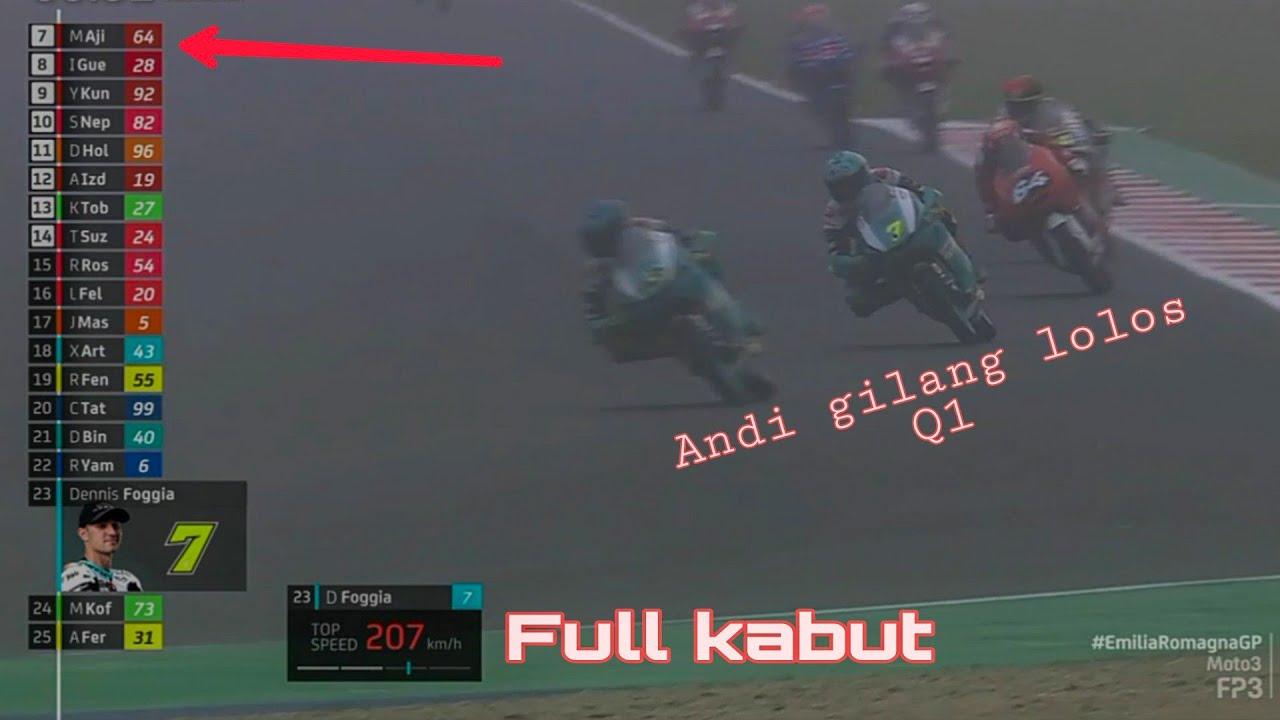 Download Hasil FP3 moto3 Emilia romagna Mario aji berjuang dari Q1