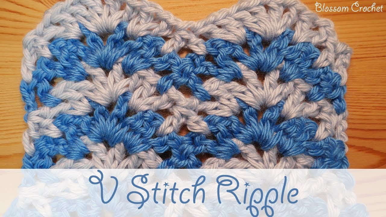 Simple Crochet Ripple V Stitch Blanket Scarf Youtube