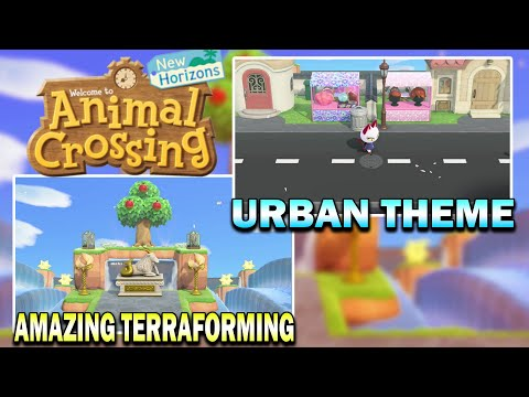 Check Out This Urban Themed 5 Star Island! Animal Crossing New Horizons Island Tour