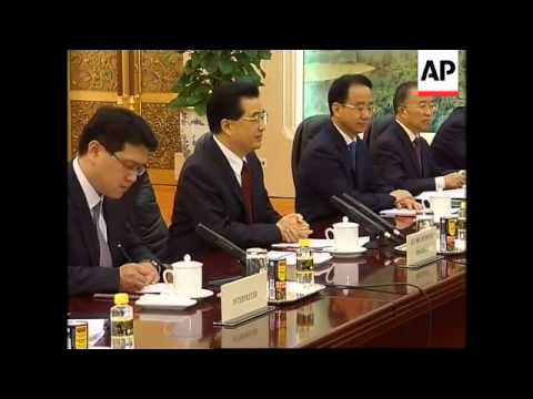 WRAP Chinese Pres meets world leaders ahead of Olympics ADDS Tadic
