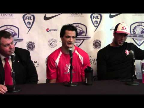 Team Canada Press Conference vs Iroquois Nationals