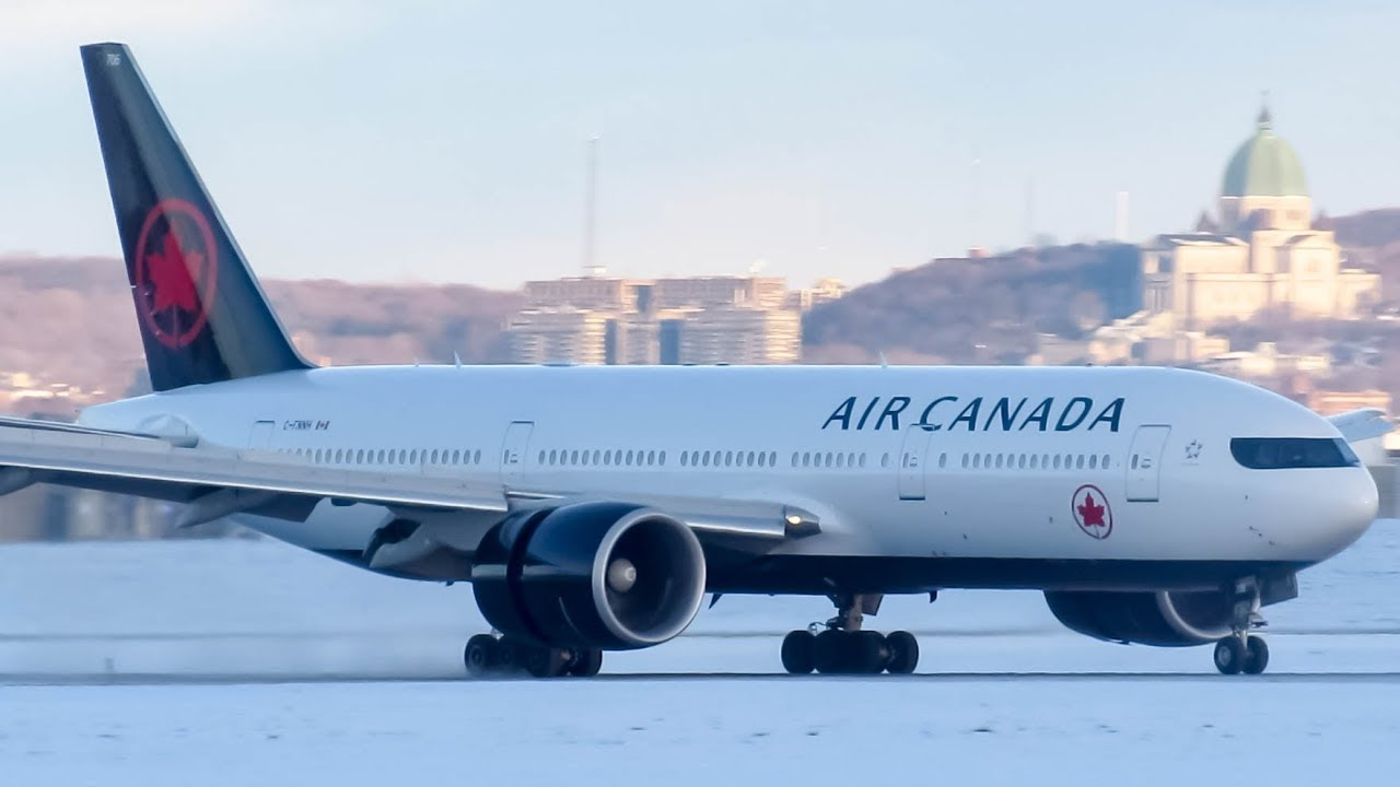 air canada new livery boeing 777 200lr b77l landing in. Black Bedroom Furniture Sets. Home Design Ideas