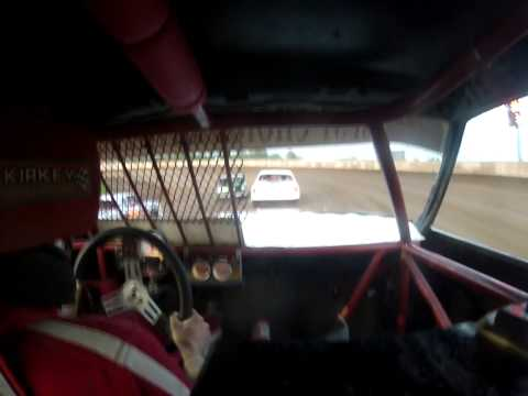 Rice Lake Speedway 5-16-15 Pure Stock Feature Win on board #93