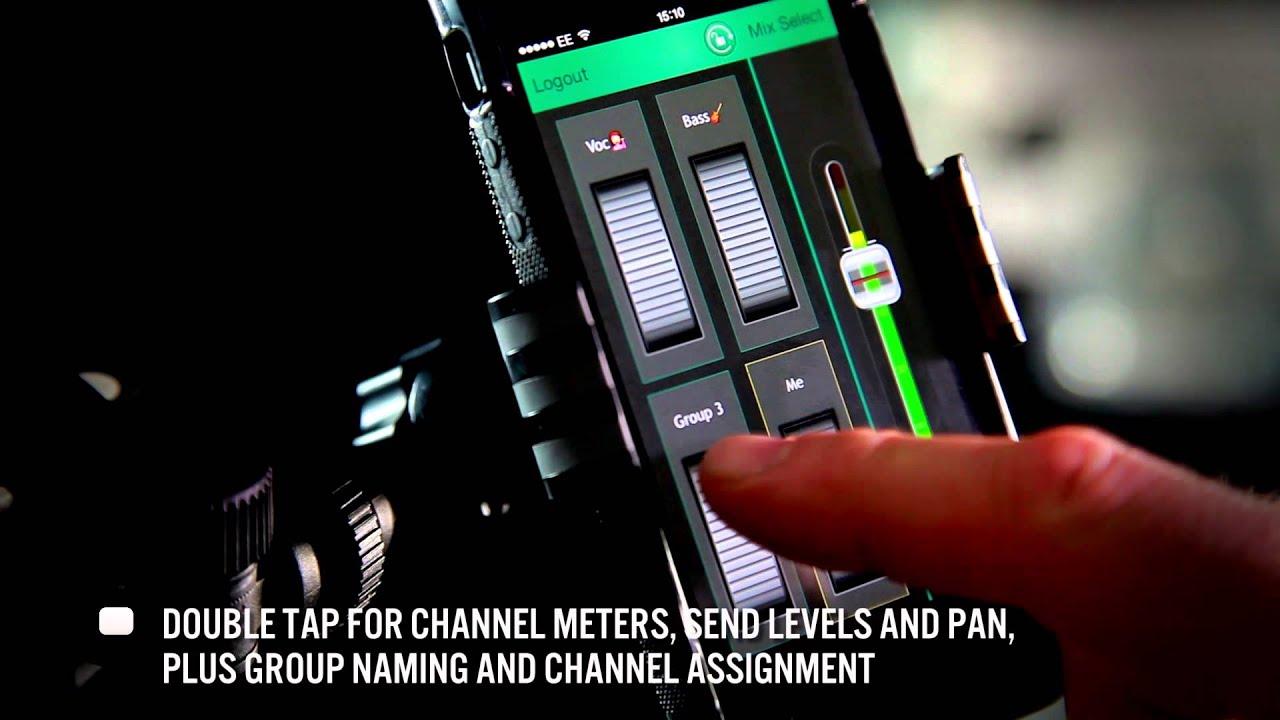 Allen & Heath Qu-You personal monitoring app for the Qu digital