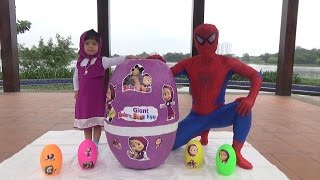 GIANT EGG SURPRISE OPENING MASHA - Săn và bóc trứng khổng lồ cô bé siêu quậy ❤ Anan Toysreview TV ❤