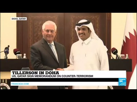 "Tillerson in Doha: ""Trump wants to rid earth of terrorism & agreement is a little part of it"""