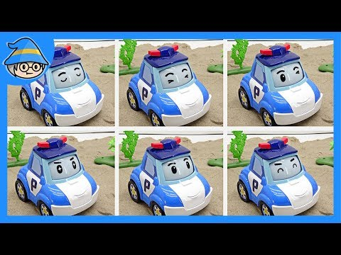 Robocar Poli's face changes while he move. Poli has six facial expressions.   Shim