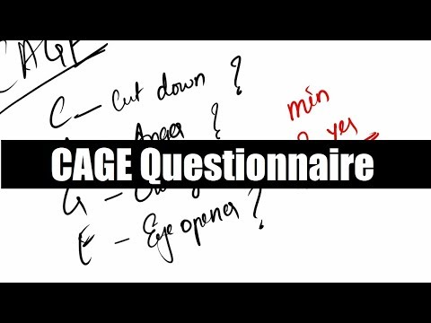 CAGE questionnaire for Alcohol abuse ( Medicine / Psychology )