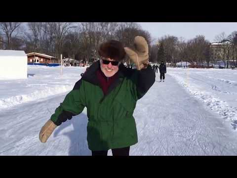 Skating on Plaines d'Abraham, Québec