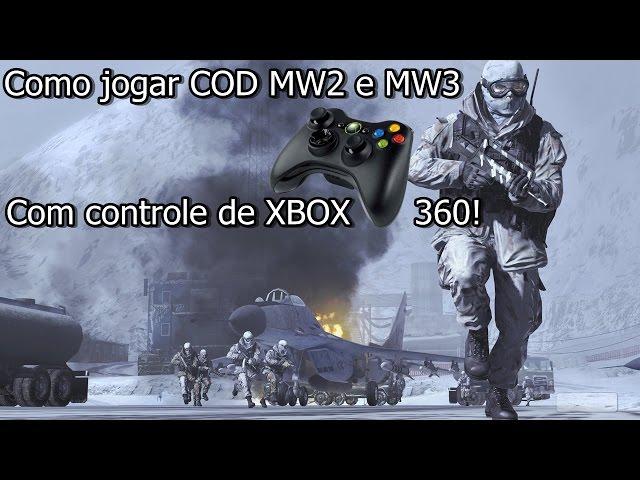 Como jogar COD MW2, MW3 com controle de XBOX 360 no PC