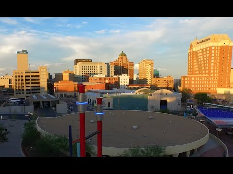 Drone footage of El Paso's growing downtown Arts District