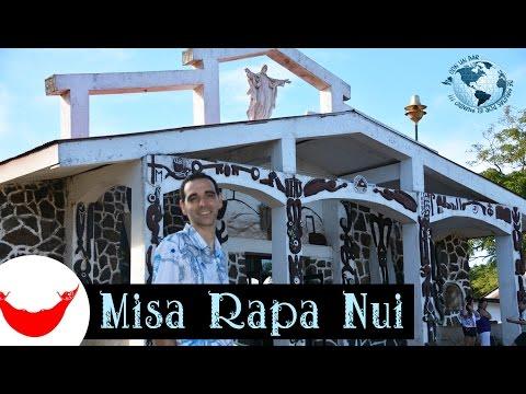 Isla de Pascua Videoguía, 18 Misa Rapa Nui. Easter Island, Chile 2015