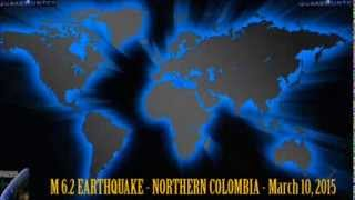 M 6.2 EARTHQUAKE - NORTHERN COLOMBIA - March 10, 2015