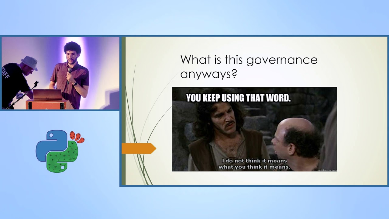 Image from Keynote - Python after Guido: The new governance model - Tal Einat - PyCon Israel 2019