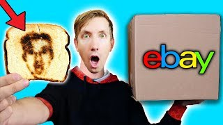 15 WEIRD BREAKFAST GADGETS - EBAY MYSTERY BOX (Challenge Unboxing Haul!)