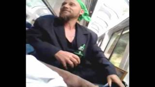 Guy has an ACID FLASHBACK on a train!  TRAINIAC #1