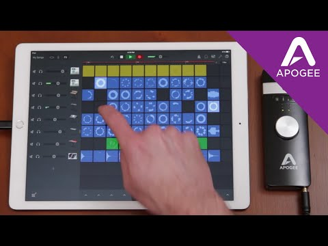 Creating a Song with Apple GarageBand Live Loops for iOS and Apogee