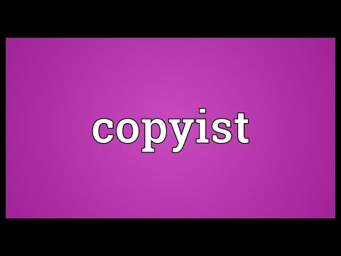 Copyist Meaning