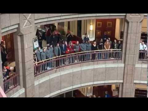 Ashley - Cast of RENT Performs at CT Legislative Building for HIV/AIDS Awareness