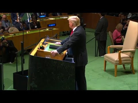 (中文字幕)川普2018最新联合国劲爆演讲,长时间点名狠批伊朗和中共