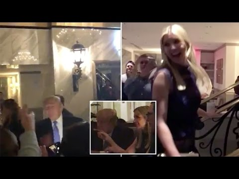 Thumbnail: President Trump is greeted by fans at his Washington hotel as he dines with Melania, Ivanka