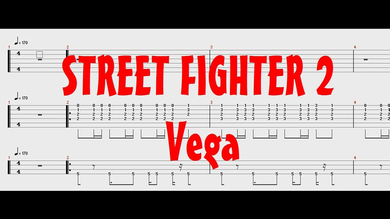 Street Fighter 2 - Vega Theme [Guitar & Bass Tab]- バルログ テーマ
