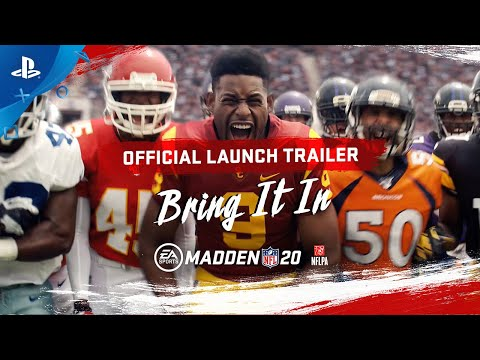 Madden NFL 20 | Launch Trailer – Bring It In | PS4