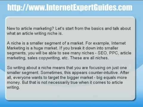 Article Marketing Basics – What is an Article Writing Niche?
