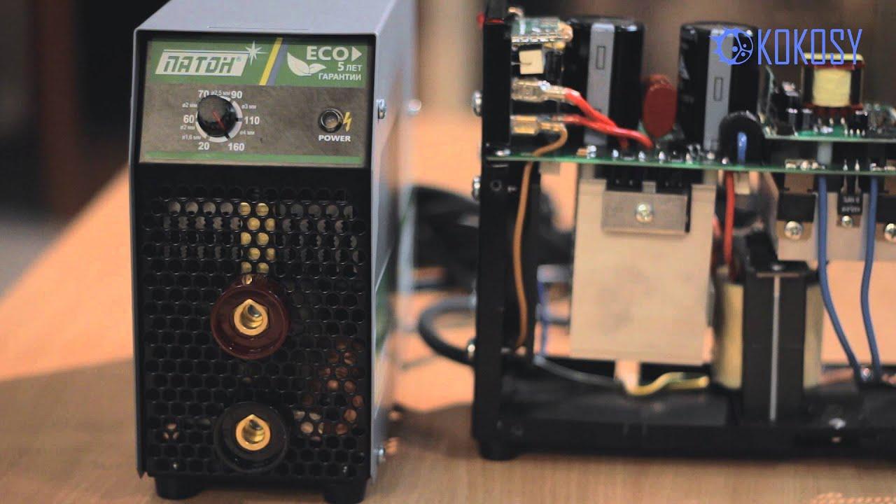 Сварочный инвертор Патон вди 200Р (дисплей) внутренности - YouTube