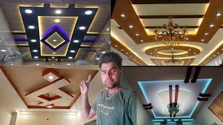 Letast 100 False Ceiling Design pop design for bedroom hall and lobby room Amroha plus minus design