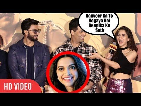 Sara Ali Khan FUNNY Comment On Ranveer-Deepika Marraige | Trolls Ranveer Singh