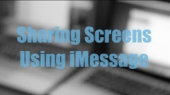 How to Share Screens Remotely using iMessage | Mac OSX
