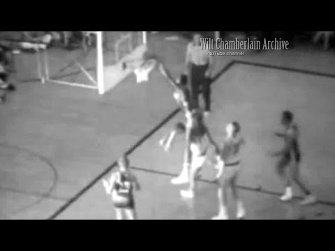 Bill Russell takes one dribble jumps OVER defender and DUNKS ON HIM!