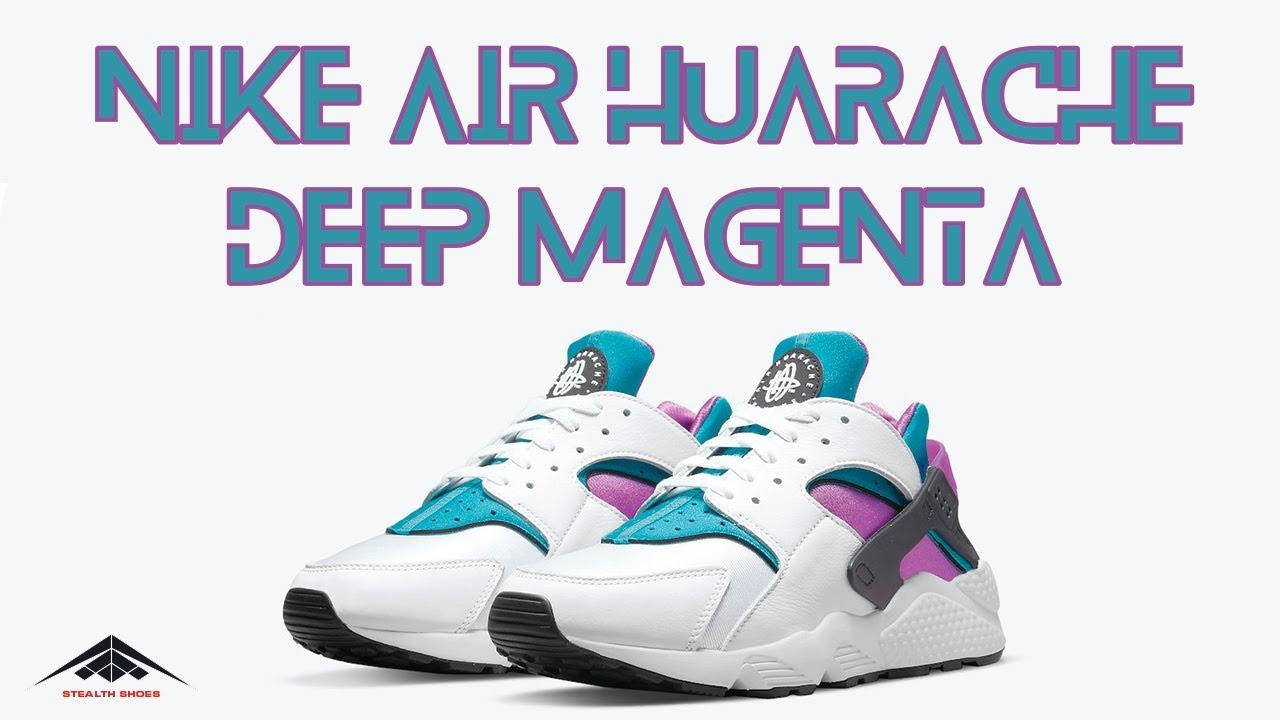 Nike Air Huarache OG Deep Magenta Colorway Shoes Exclusive Look & Price 2021