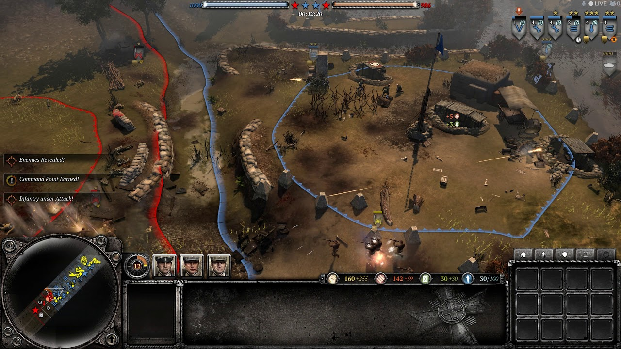 [2020.04.28] Company of heroes 2 - Ostheer 3v4 expert AI gameplay