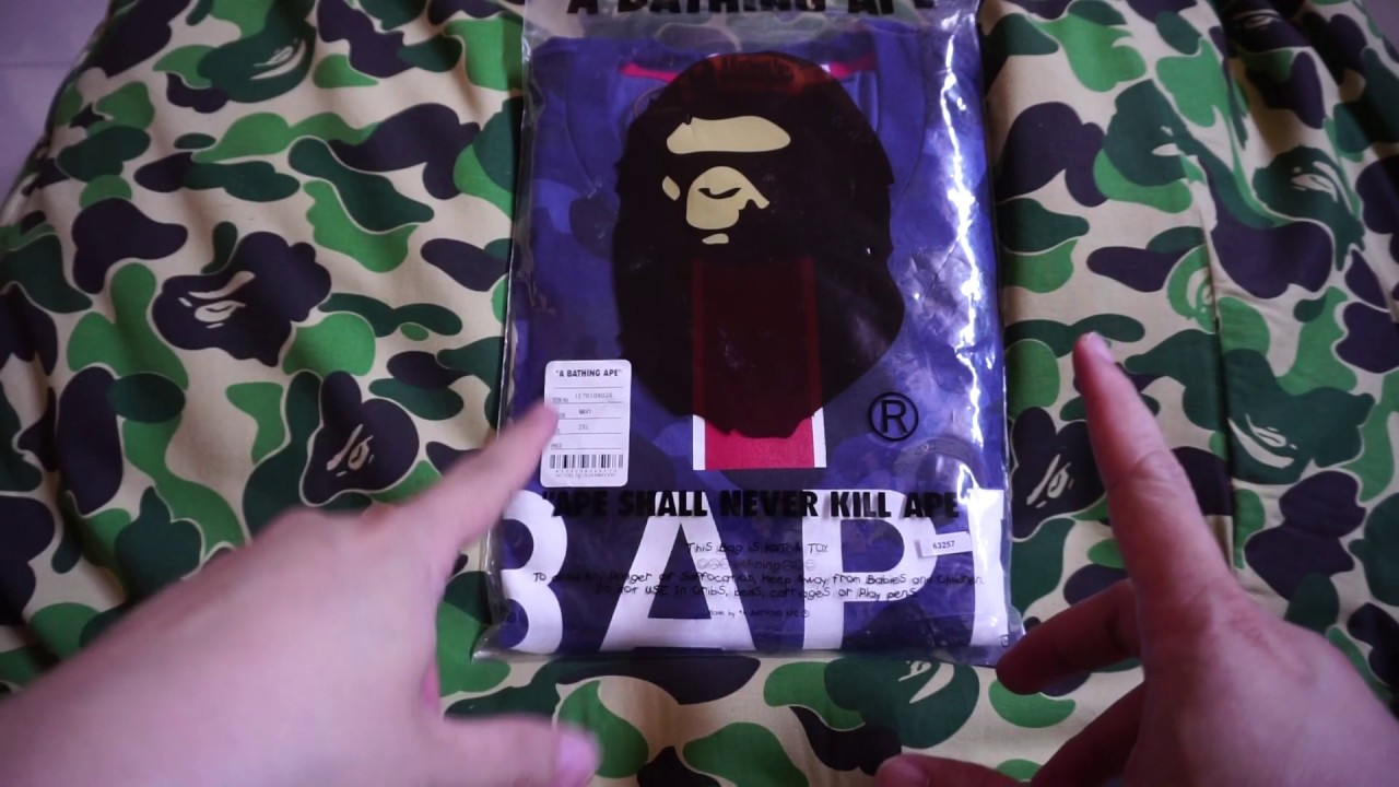 buy online 2bff6 8f621 BATHING APE (BAPE) x PARIS SAINT-GERMAIN PSG Football Collection Unboxing  Tee and Review!