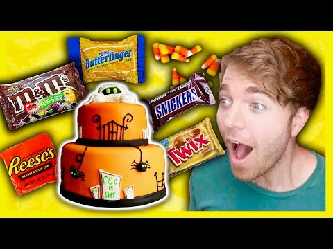 GIANT HALLOWEEN CANDY CAKE