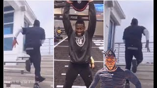 Antonio Brown's First Day As A Raider