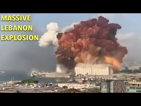 MASSIVE Beirut Lebanon EXPLOSION *ALL ANGLES* Compilation