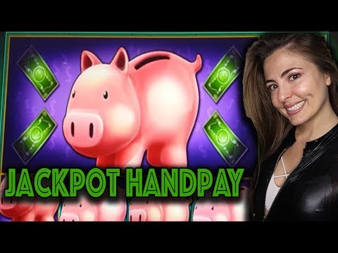 Our BIGGEST HANDPAY On Piggy Bankin' Lock It Link!