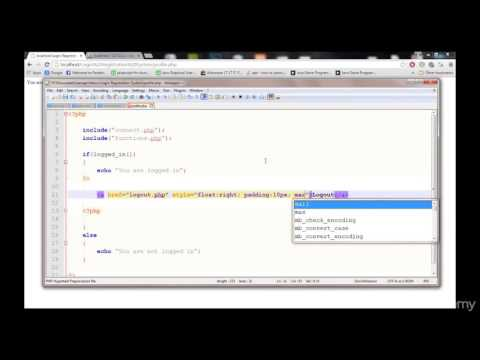PHP TUTORIALS LECTURE 16 LOGGING OUT WITH LOGOUT BUTTON