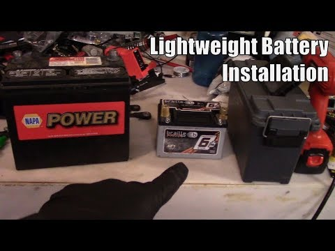 The most effective weight reduction mod: Lightweight battery installation
