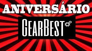 É para ser INSANO! 4° Aniversario Gearbest cupons e ofertas!