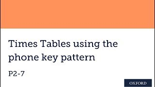 Times Tables using the phone key pattern
