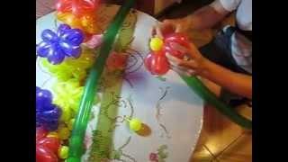 Flowers from balloons Цветы из шариков (Ромашка из воздушных шариков ( шдм)) №2