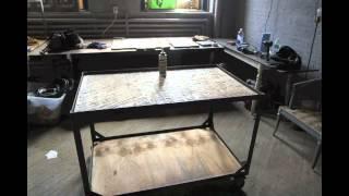 Dan Faires Iron And Wood Bar Cart