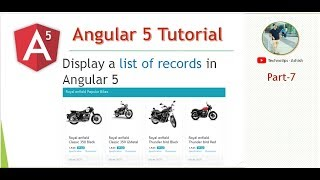 Part 7   Display a List of Records in Angular 5  Bike List