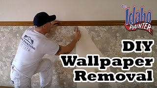 Wallpaper removal hacks.  Removing Wallpaper No Steamer Needed.