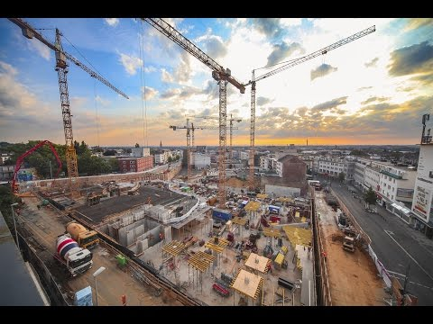 construction site time lapse shopping mall | Minto Mönchengladbach - MFI